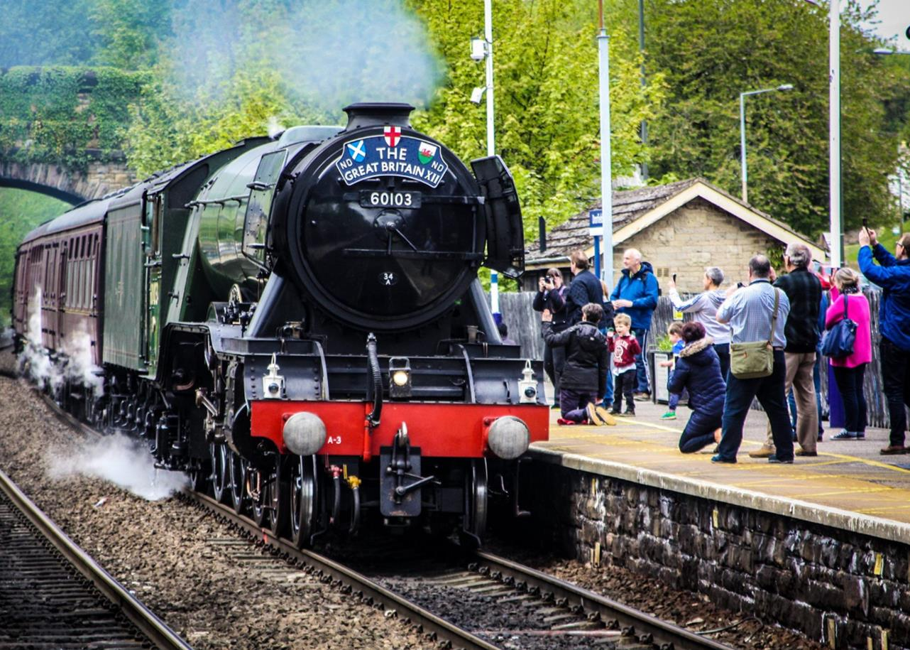 The Flying Scotsman at Dronfield Station